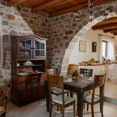 Traditional Cretan cottages in Lassithi Plateau. VASILIKATA Traditional Guesthouse